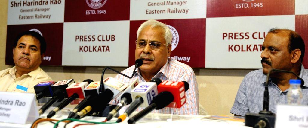 Eastern Railway GM Harindra Rao addresses a press conference in Kolkata, on June 22, 2017. - Harindra Rao
