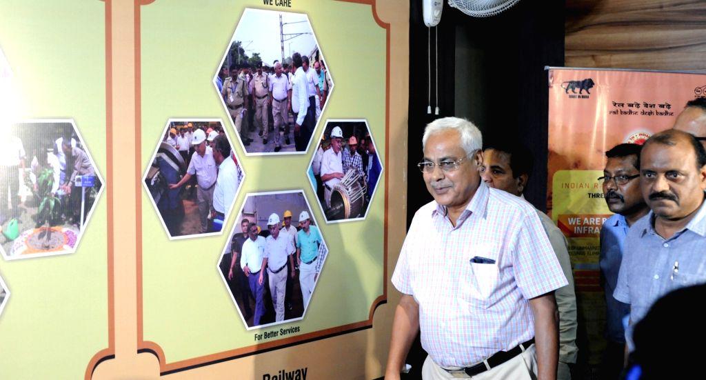 Eastern Railway GM Harindra Rao arrives to attend a press conference in Kolkata, on June 22, 2017. - Harindra Rao