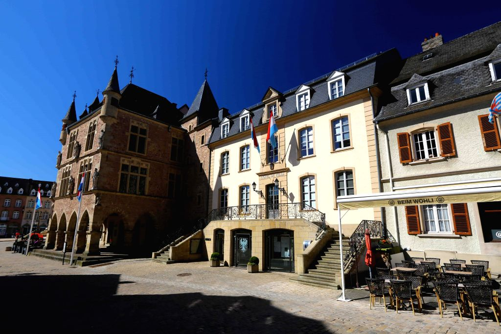 ECHTERNACH, April 10, 2017 - Photo taken on March 27, 2017 shows the view in Echternach, the oldest town in Luxembourg. (Xinhua/Gong Bing)