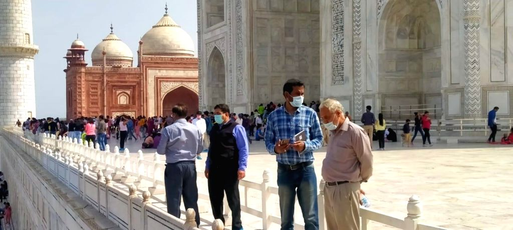 Eclipse on the beauty of Taj Mahal.