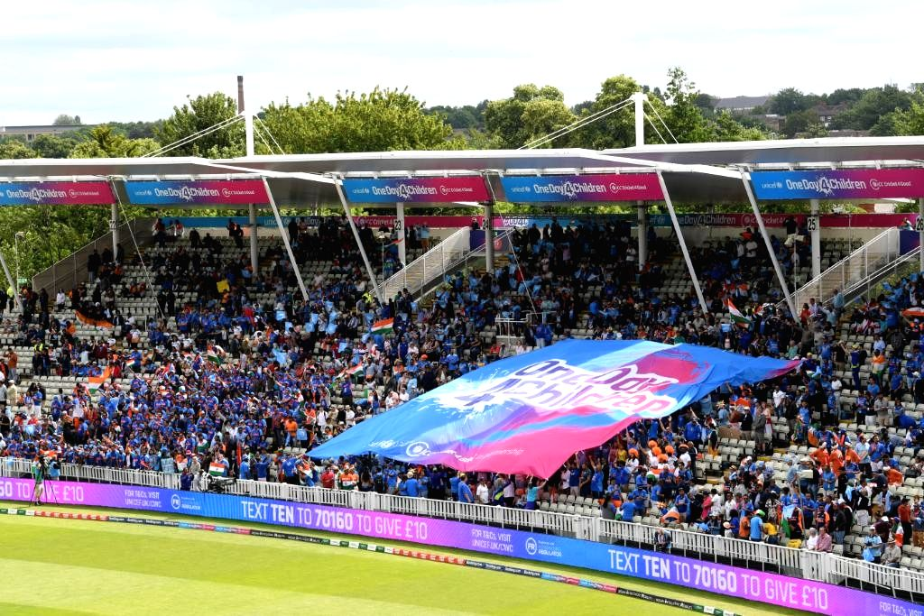 Edgbaston turned blue on Sunday as the ICC Cricket for Good, in partnership with UNICEF, delivered the pinnacle event of the tournament, the eOne Day for Children campaign, with a special celebration at the England versus India World Cup match here.