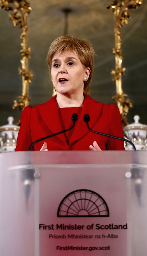 EDINBURGH, June 24, 2016 - Scottish First Minister Nicola Sturgeon speaks at a press conference in Edinburgh, Scotland, Britain, June 24, 2016. Scottish First Minister Nicola Sturgeon said here ... - Nicola Sturgeon