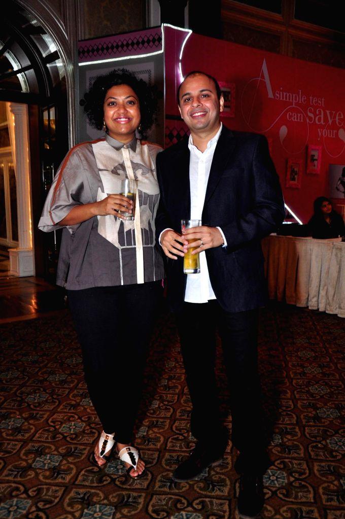 Editor, ELLE India Aishwarya Subramanyam , Editor, Elle and Gaurav Mashruwala, Publisher, Elle during ELLE Carnival for a Cause 2014 event in Mumbai on 18 May 2014.