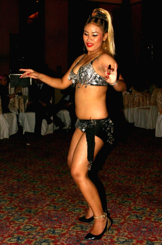 "Egyptian dancer at the  ""Egyptian Night"" hosted by Egypt Tourism Authority  in New Delhi on Friday night."