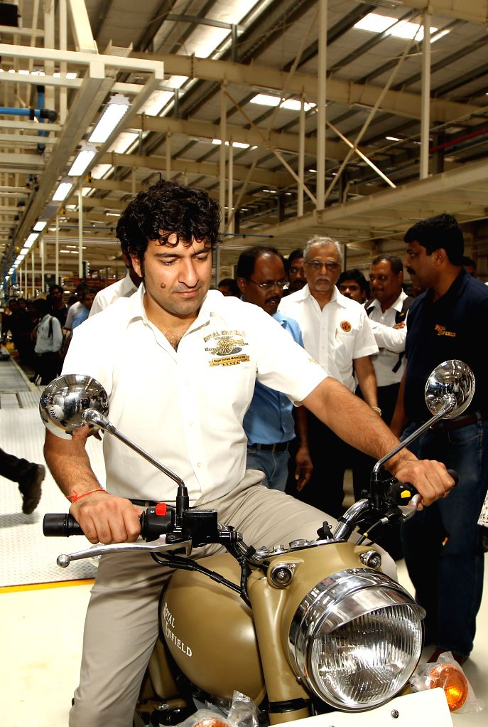 :Eicher Motor Ltd., Managing Director and CEO Siddhartha Lal at the launch of Royal Enfield second manufacturing facility at Oragadam, near Chennai on April 30, 2013. (Photo: IANS).