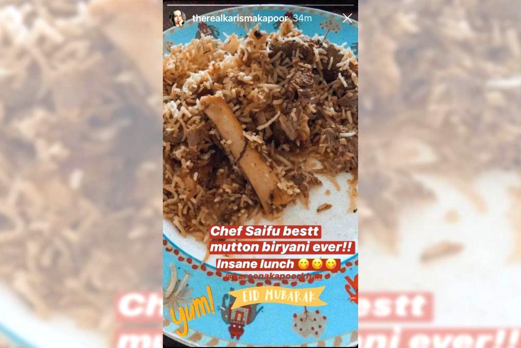Eid special: Saif treats Kareena, Karisma with mutton biryani.