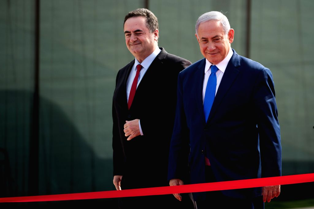 EILAT (ISRAEL), Jan. 21, 2019 Israeli Prime Minister Benjamin Netanyahu (R) attends the official launching ceremony of the Ramon Airport near the Red Sea coastal city of Eilat, Israel, on ... - Benjamin Netanyahu