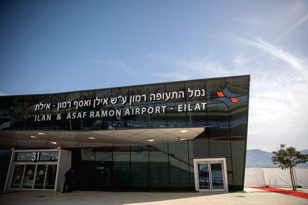 EILAT (ISRAEL), Jan. 21, 2019 Photo taken on Jan. 21, 2019 shows the new Ramon Airport near the Red Sea coastal city of Eilat, Israel. Israeli Prime Minister Benjamin Netanyahu said that ... - Benjamin Netanyahu