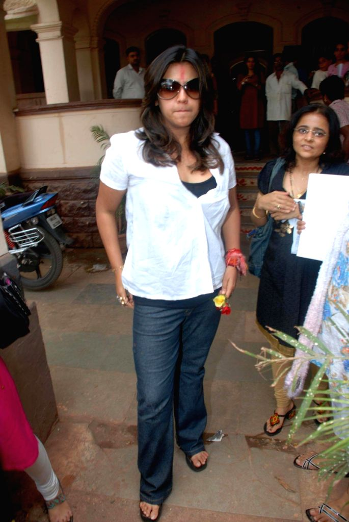 """Ekta Kapoor at the launch of her new serial """"Koi Aane Ko Hai"""" on Colors.."""