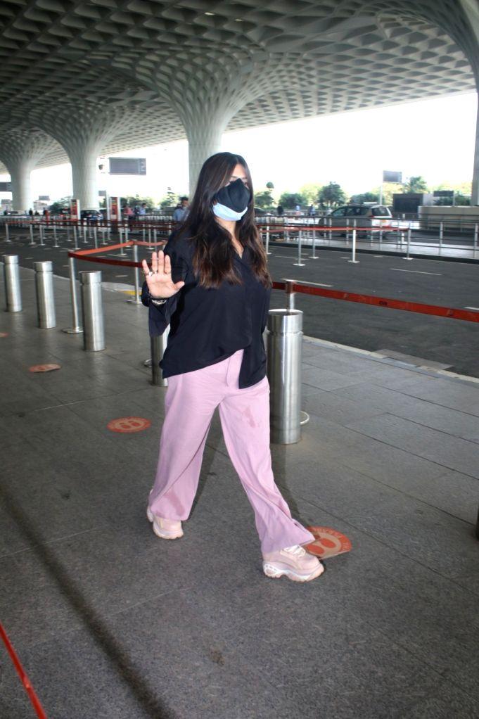 Ekta Kapoor Spotted At Airport Departure on 28 April,2021.