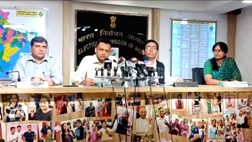 Election Commission officials address a press conference regarding violence witnessed during BJP President Amit Shah's roadshow in Kolkata on May 14; in New Delhi on May 15, 2019. - Amit Shah