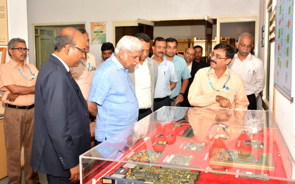 Election Commissioner Sunil Arora inaugurates a new manufacturing facility for EVM production at Bharat Electronics Limited,in Bangalore on July 20, 2018. - Commissioner Sunil Arora
