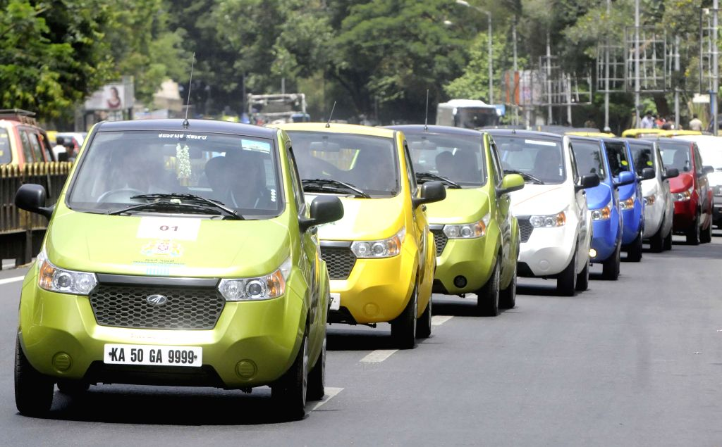 Electric Cars rally during awareness campaign