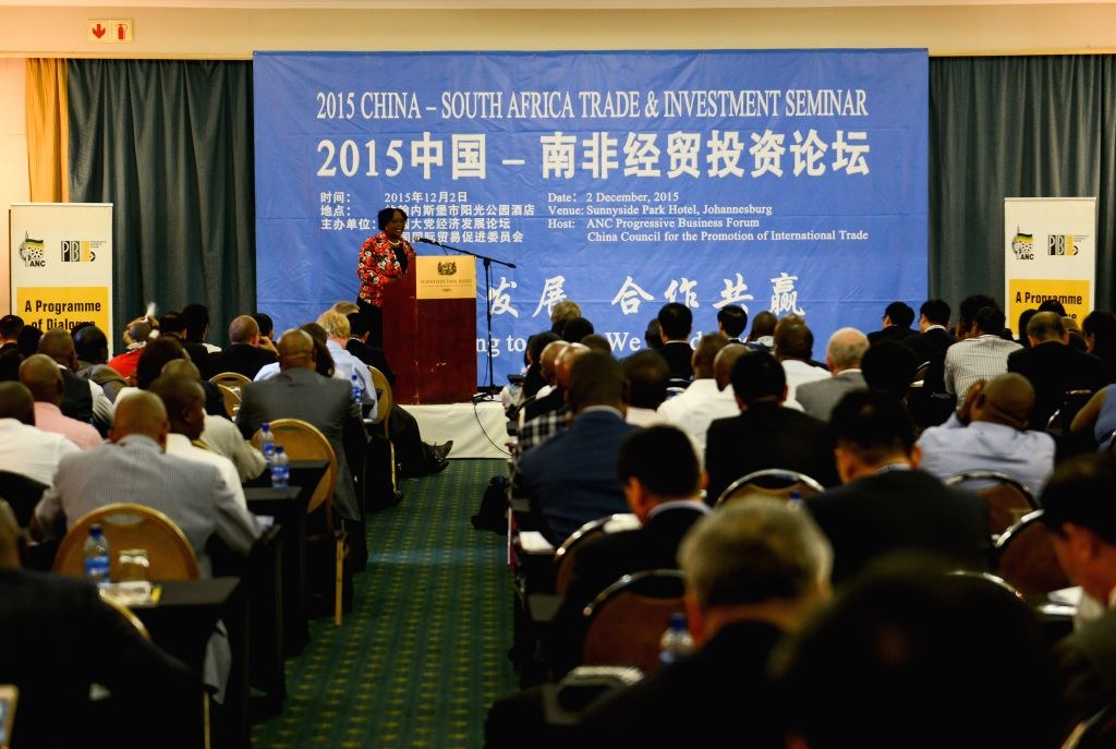 Elizabeth Thabethe,?Deputy Minister of Small Business Development of South Africa, addresses the 2015 China-South Africa Trade & Investment Seminar, in ...