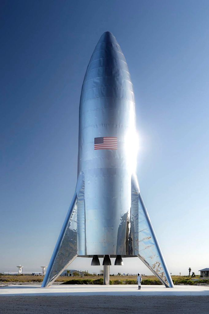 Elon Musk offered the first glimpse of SpaceX's Starship test rocket on Twitter.