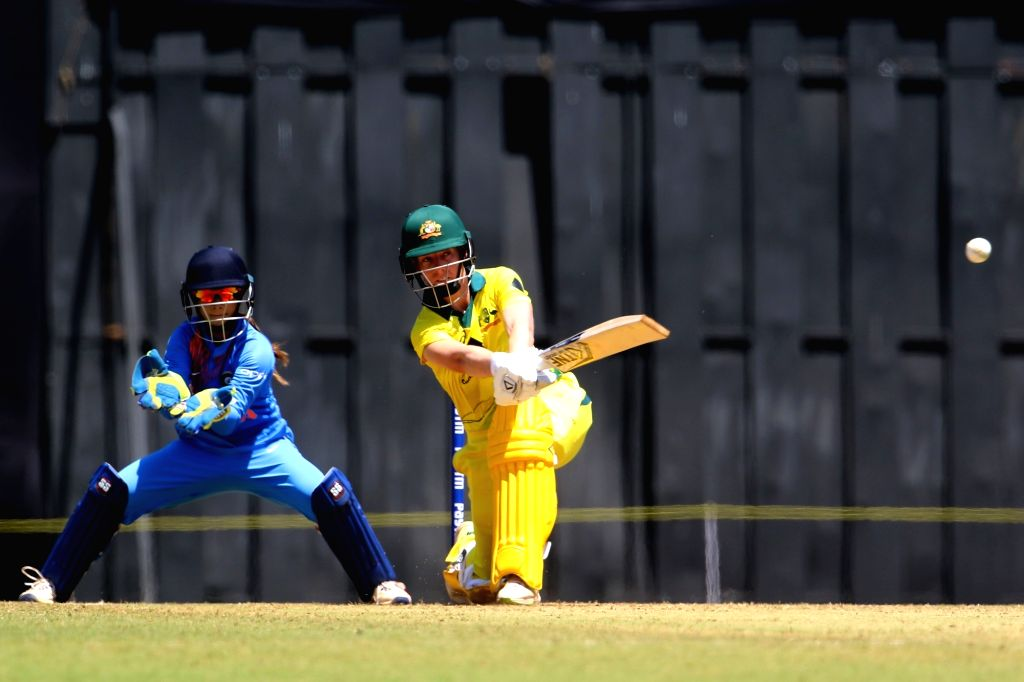 Elyse Villani of Australia in action during the women's tri-series T20I match between India and Australia at the Brabourne Stadium in Mumbai on March 22, 2018.