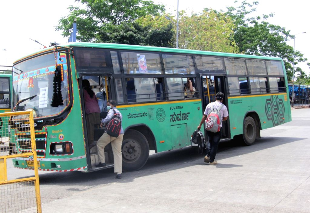 Emergency bus services operational on Day 2 of the 21-day nationwide lockdown imposed by the Narendra Modi government over the coronavirus pandemic; in Bengaluru on March 26, 2020. - Narendra Modi