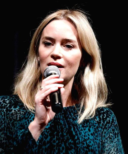 Emily Blunt found it 'medicinal' to sing for 'Mary Poppins Returns'.