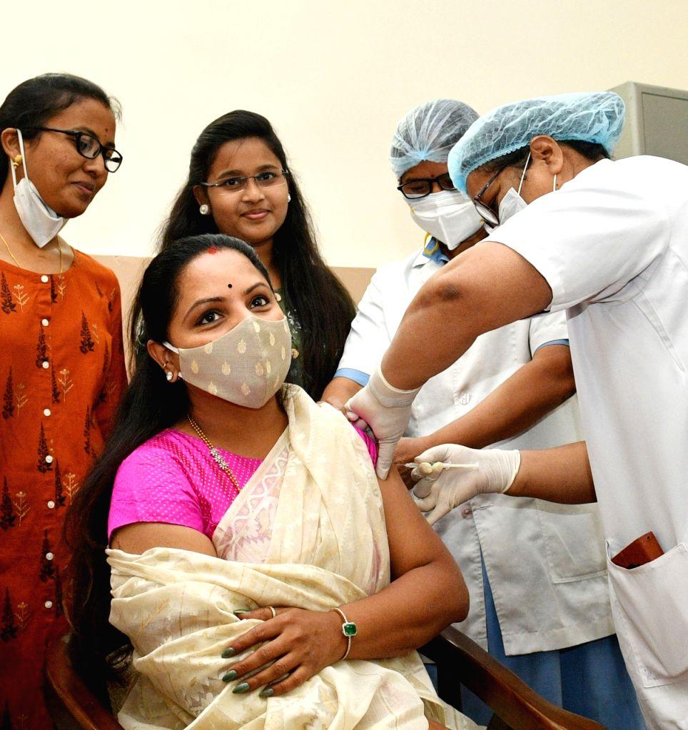 Eminent personalities take Covid shot in Telangana
