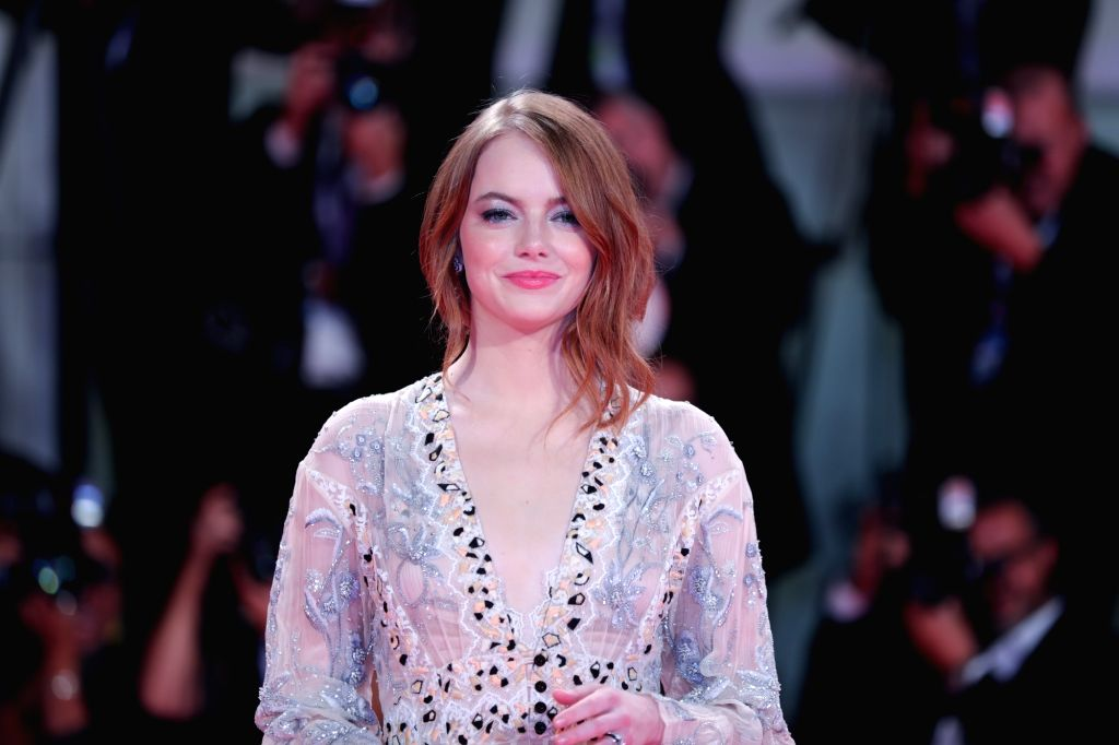 Emma Stone. (Xinhua/Cheng Tingting/IANS)