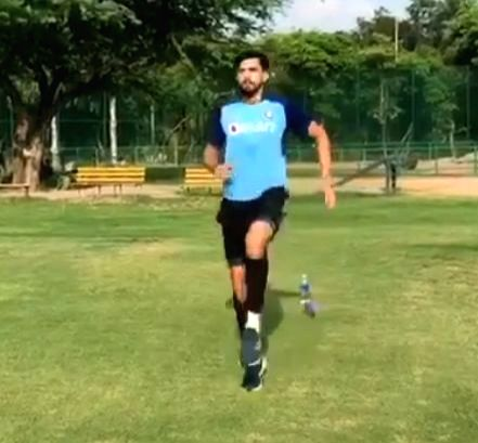 Engaging myself with positivity': Ishant returns to outdoor training.