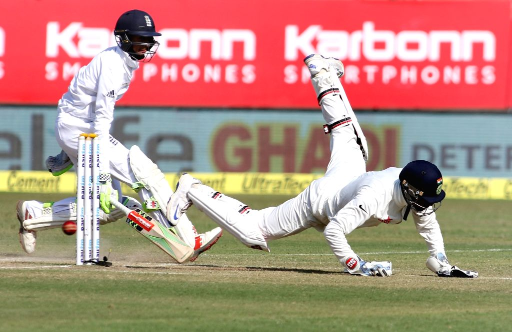 England batsman Haseeb Hameed bats on the fourth day of the first cricket test match between India and England in Rajkot on Nov. 12, 2016. - Haseeb Hameed