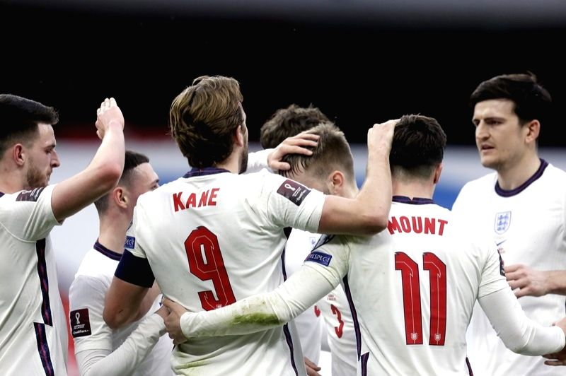 England ease to 2-0 win over Albania. (Credit: DPA)