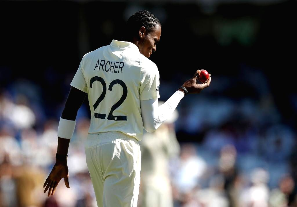 England's Jofra Archer on Day 2 of the 5th Test match between England and Australia at Kennington Oval in London on Sep 13, 2019.