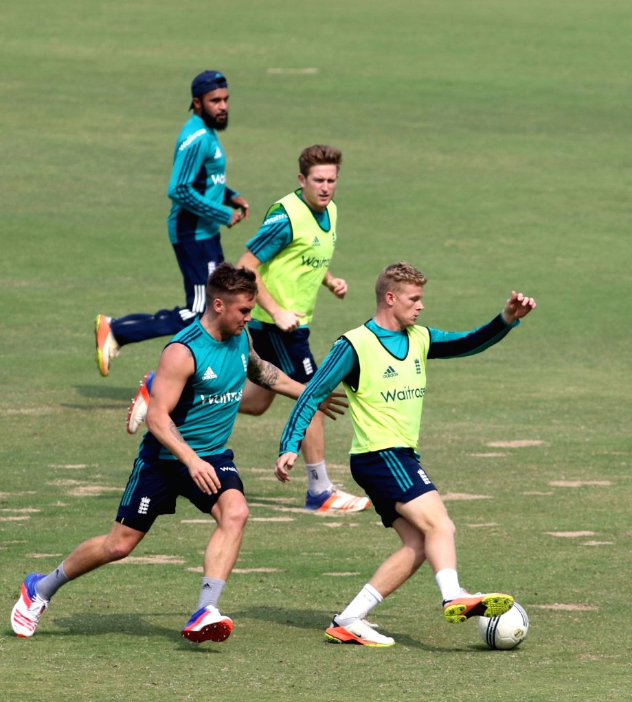 England team during a practice session ahead of the 1st ODI match between India and England at Maharashtra Cricket Association Stadium, Pune on Jan 14, 2017.