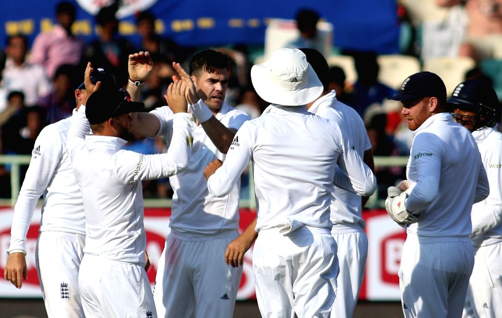 English cricket team players during day three of the 2nd test match between India and England at the Dr. Y.S. Rajasekhara Reddy ACA-VDCA Cricket Stadium in Visakhapatnam on Nov. 19,  ...