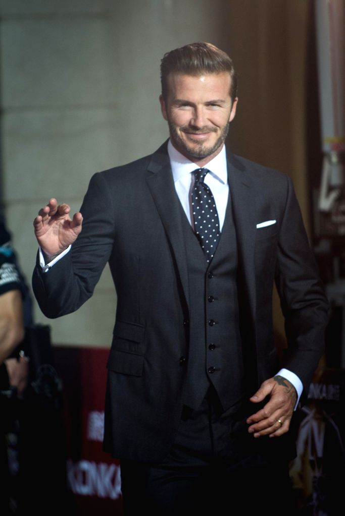 English former footballer David Beckham during the 18th Global Chinese Chart in Macau of China on April 23, 2014.