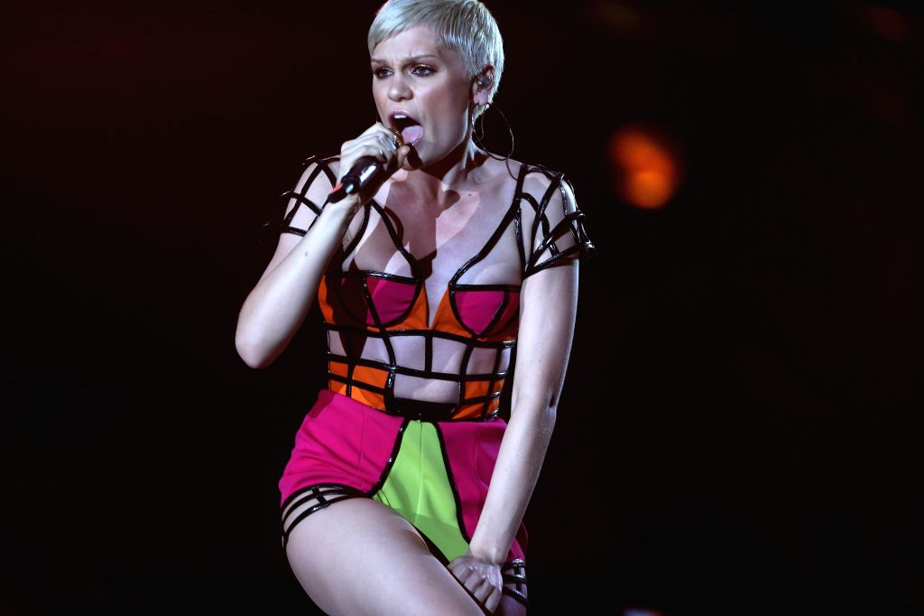 English singer Jessie J performs during her concert held at the `Mundo` stage during the Rock in Rio 2013 music festival, in Rio de Janeiro, Brazil, 15 September 2013. IANS/EFE/Marcelo Sayao