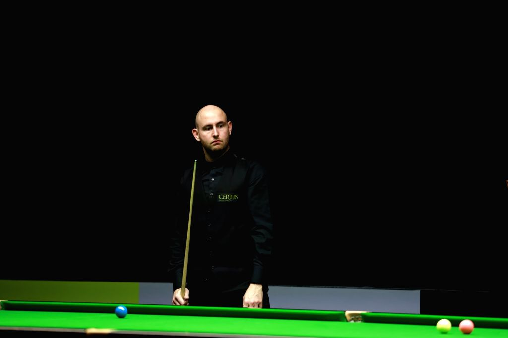 English snooker player Matthew Selt, who made his way into the finals with a victory of 4-2 defending Scotland's John Higgins at the 5th Indian Open Snooker tournament, in Kerala's Kochi, on ...