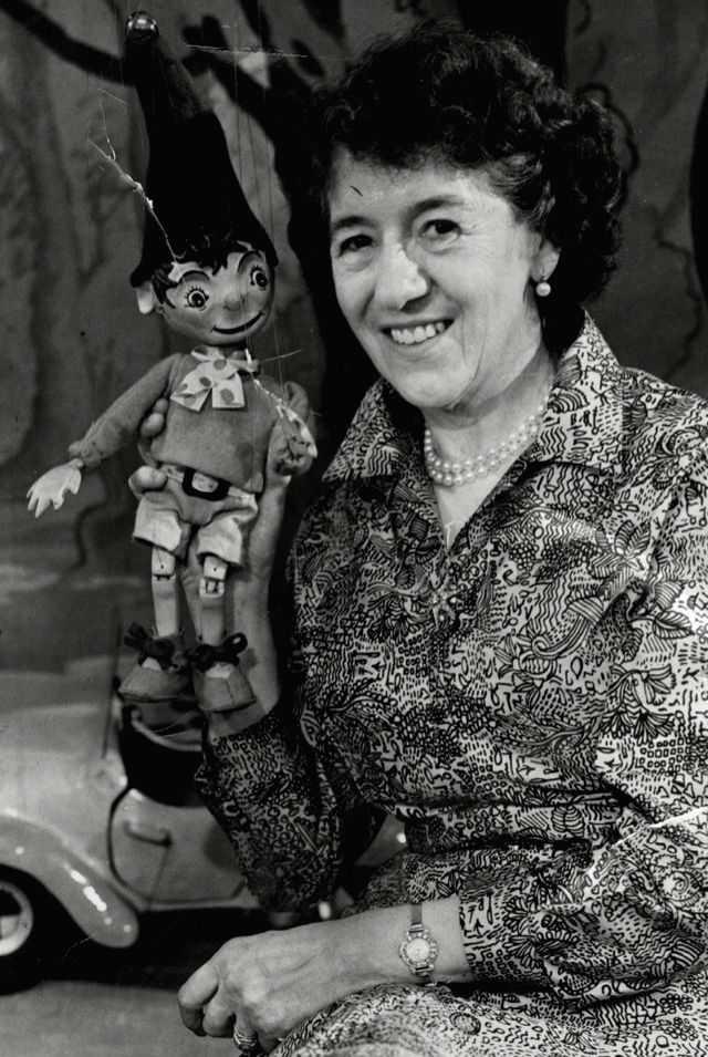 Enid Blyton with one of her beloved characters