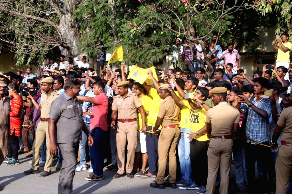 Enthusiastic fans wait to welcome the team members of Chennai Super Kings that emerged as the winner of IPL 2018; at Chennai International Airport on May 28, 2018. Chennai Super Kings lifted ...
