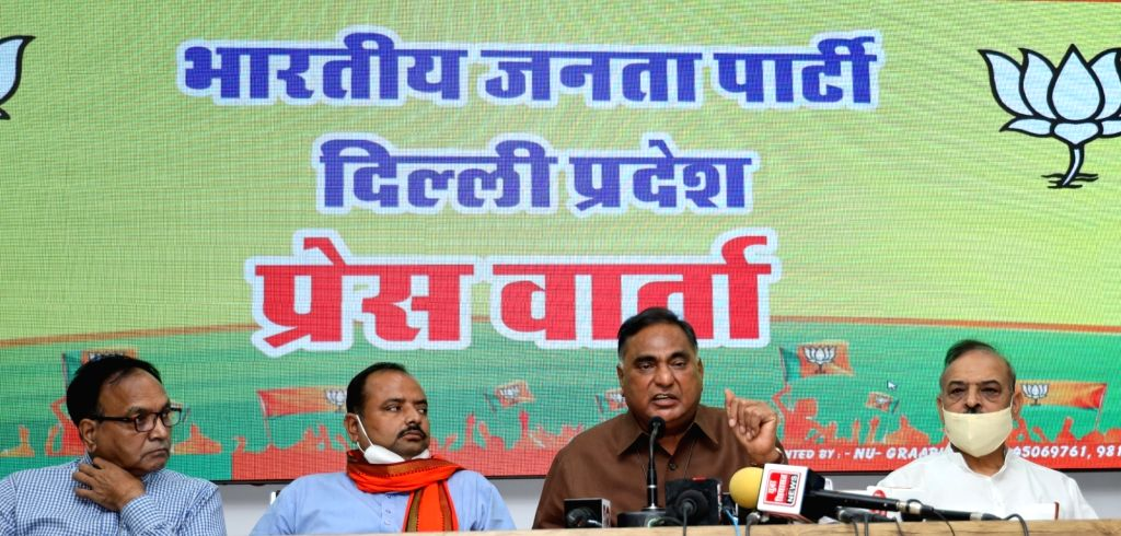er of opposition in the Delhi Legislative Assembly Ramvir Singh Bidhuri addresses a press conference on the upcoming one-day assembly session scheduled to be held on 14th September; in ...