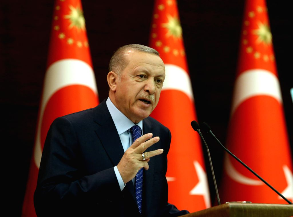 Erdogan did not declare a lockdown but urged people to stay at home for three weeks.