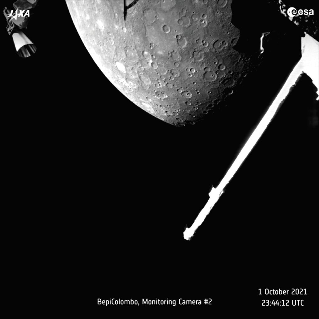 ESA's BepiColombo makes 1st flyby of Mercury, snaps images