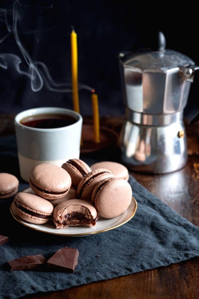 Espresso Macarons.
