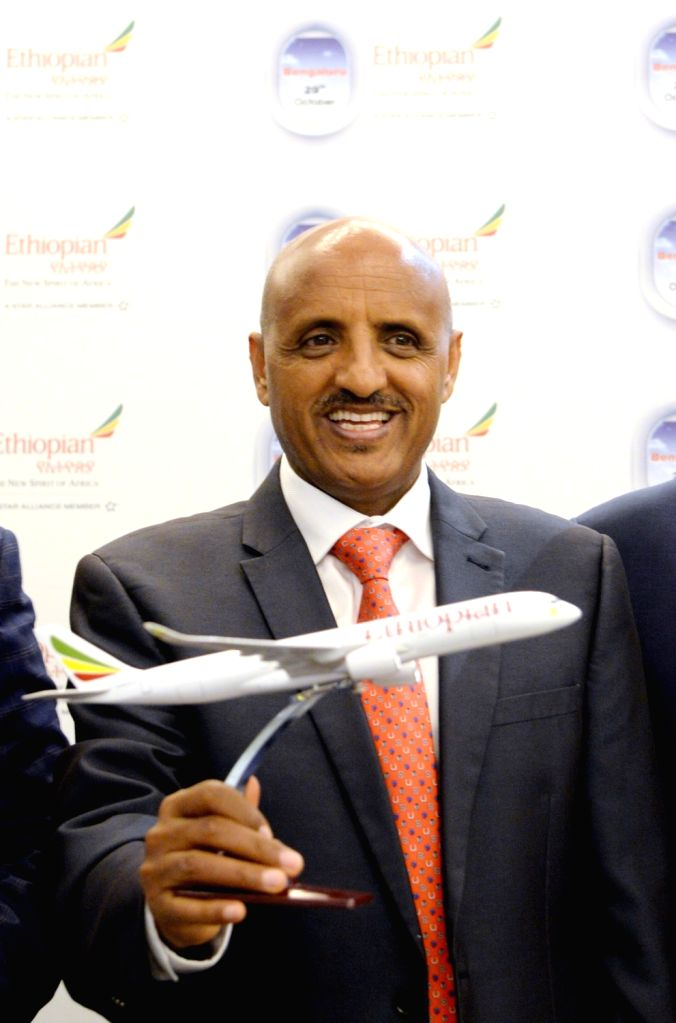 Ethiopian Airlines Group CEO Tewolde GebreMariam during a press conference at the launch of weekly non-stop Ethiopian Airlines flights between capital Addis Ababa and Bengaluru, on Oct 28, ...