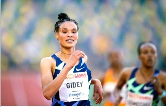 Ethiopian Gidey breaks 10,000m world record.