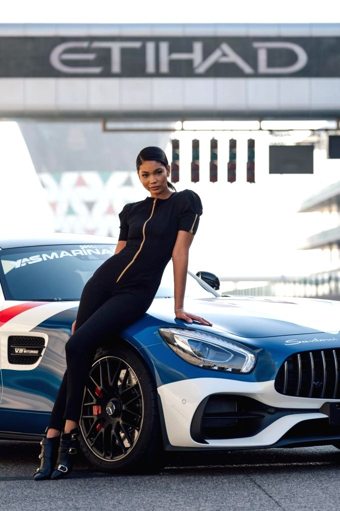 Etihad Airways F1 Chanel Iman Grid Girl Uniform.