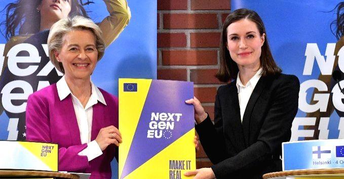 European Commission President Ursula von der Leyen and Finnish Prime Minister Sanna Marin (pic credit: https://twitter.com/vonderleyen) - Sanna Marin