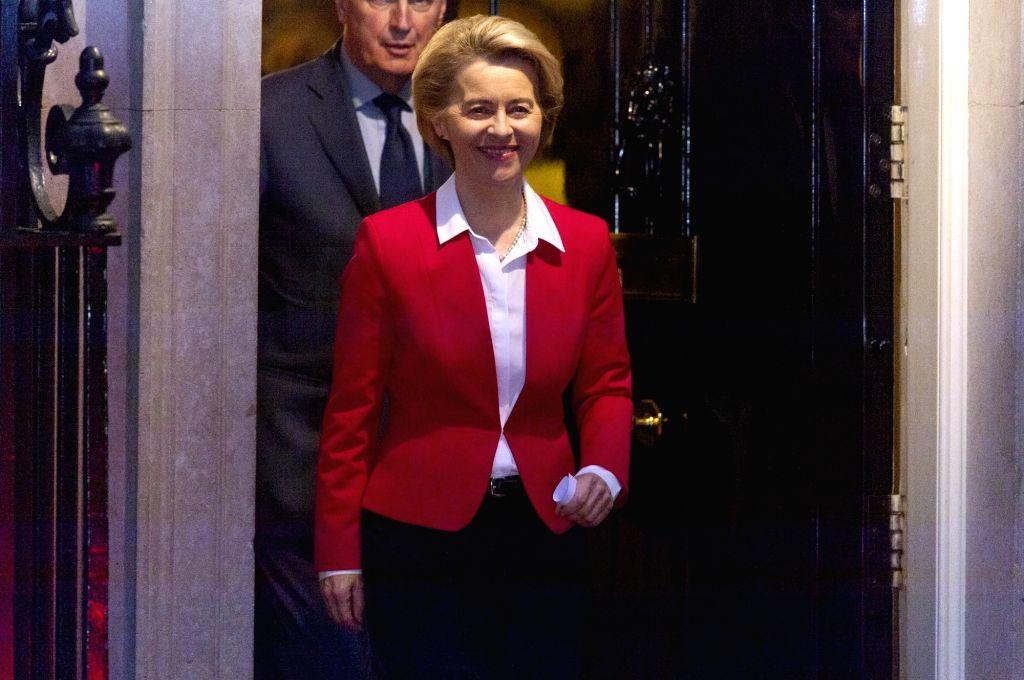 European Commission President Ursula von der Leyen leaves Downing Street after meeting with British Prime Minister Boris Johnson in London, Britain, Jan. 8, 2020. The ... - Boris Johnson