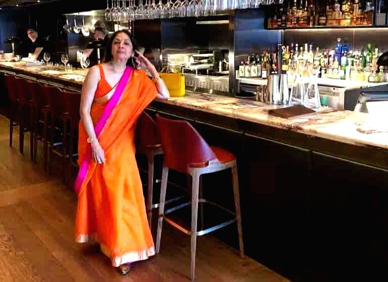 Even at 60, Neena Gupta, who played Ayushmann Khurrana's on-screen mother in Badhai Ho, is setting major fashion goals, pulling off a beautiful 'desi' look. Neena shared a photograph of herself in a ... - Neena Gupta