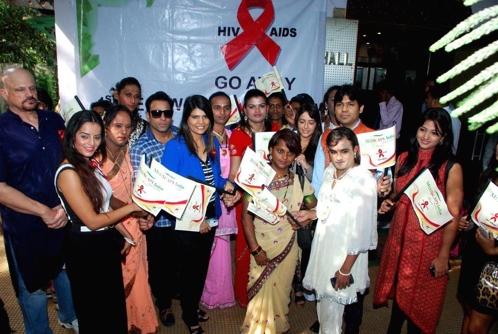 Event : (021214) Mumbai: Actors at AIDS awareness while celebrating World AIDS Day