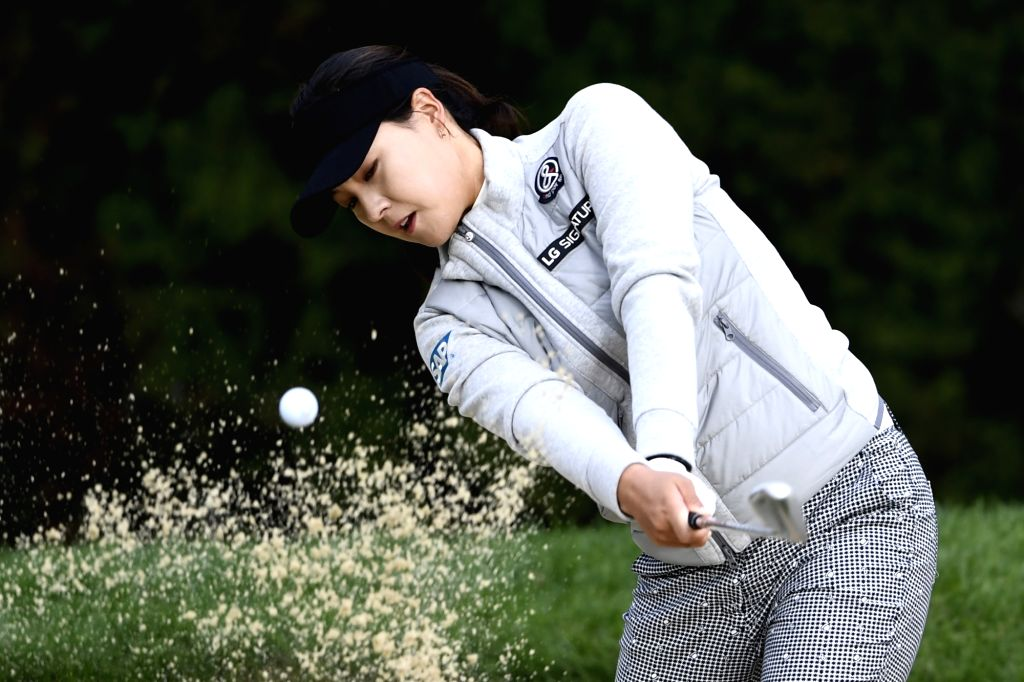 EVIAN-LES-In Gee Chun of South Korea plays a shot during the second round of the Evian Championship on Sept. 16, 2017 in Evian-les-Bains, France.