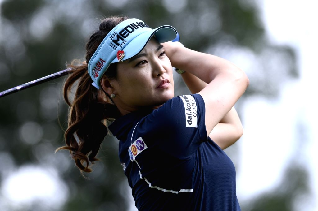 EVIAN, Sept. 14, 2018 - Ryu So Yeon of South Korea plays a shot during the first round of the Evian Golf Championship on Sept. 13, 2018 in Evian-les-Bains, France.