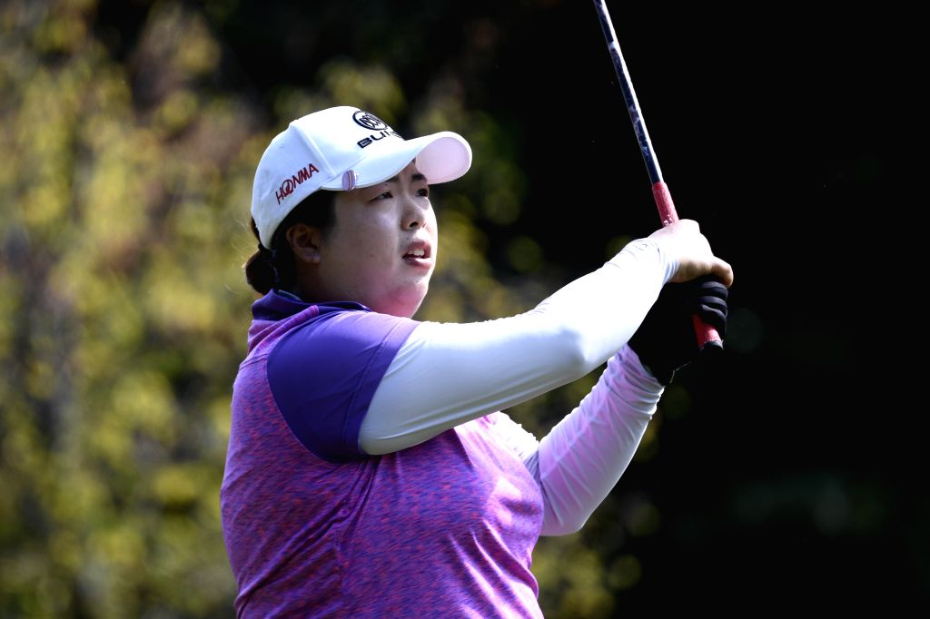 EVIAN, Sept. 15, 2018 - Feng Shanshan of China competes during the second round of the Evian Championship on Sept. 14, 2018 in Evian-les-Bains, France.