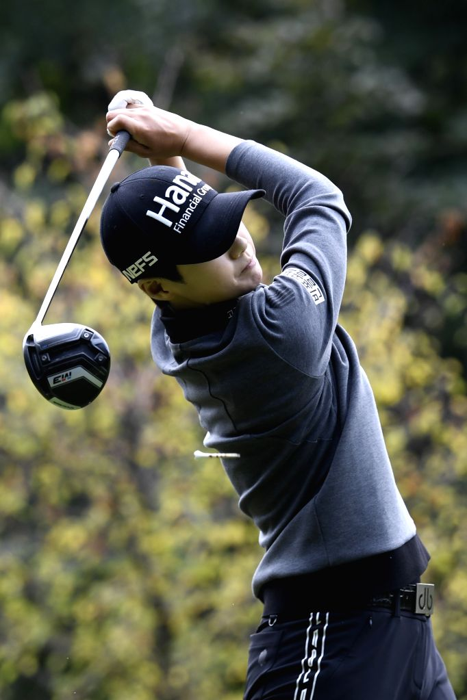 EVIAN, Sept. 15, 2018 - Sung Hyun Park from South Korea plays a shot during the second round of the Evian Championship in Evian-les-Bains, France, on Sept. 14, 2018.
